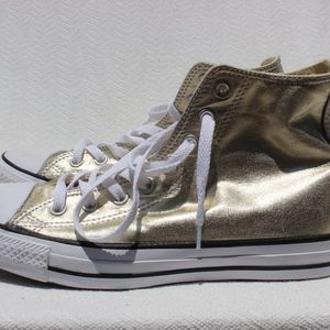 Converse Gold High Top Sz 10